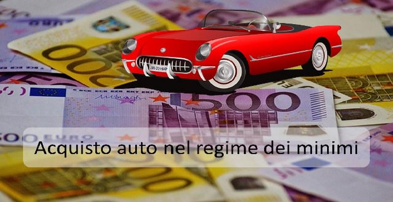 acquisto auto e regime dei minimi